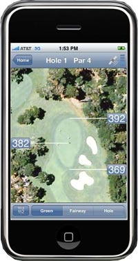airvue iphone golf app