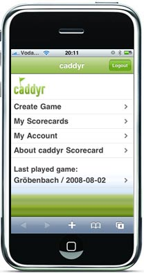 caddyr iphone golf app