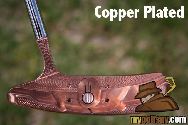 copper plated putter finish