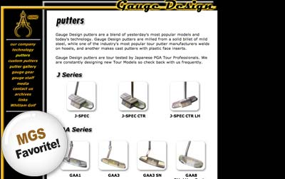 gauge design putters