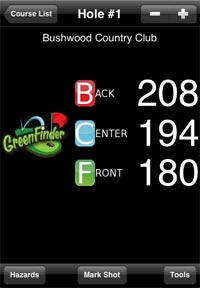 greenfinder iphone golf app