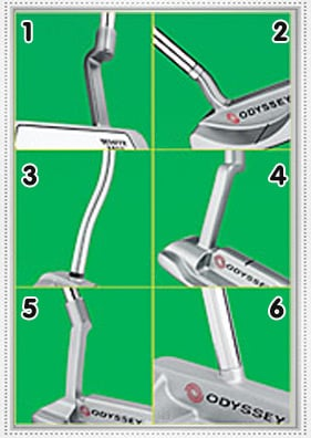 putter hosel shape