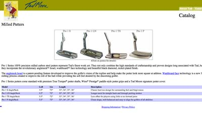 tad moore putters