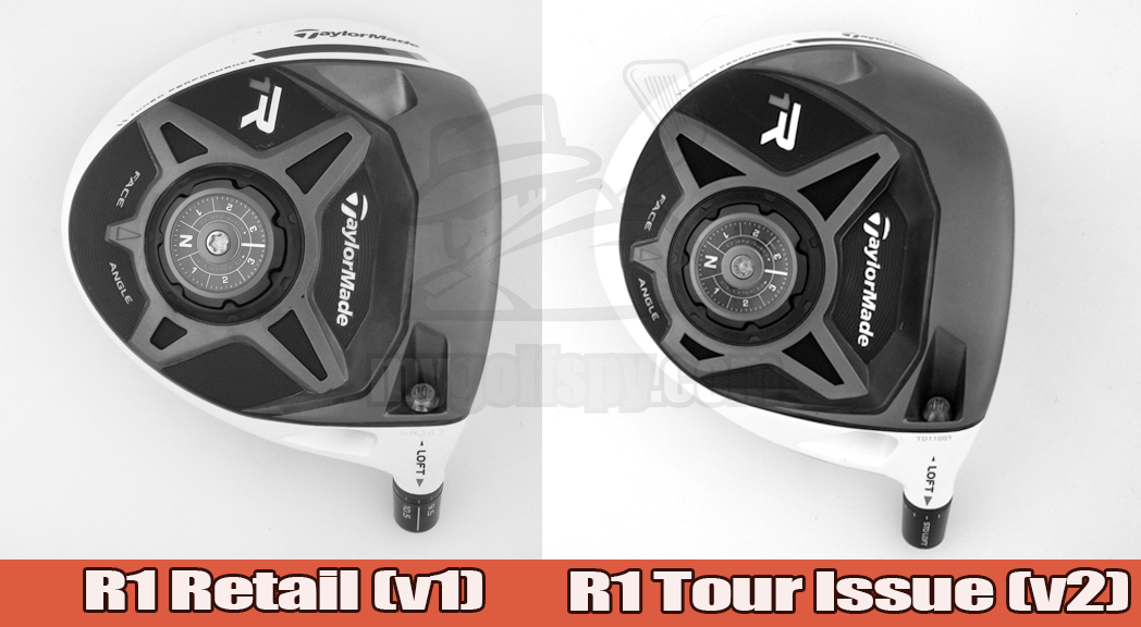 TaylorMade R1 Retail vs. R1 Tour Issue (side by side)