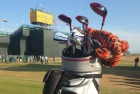 Somebody has a new driver in his bag...finally. Not that he'll need it this week.