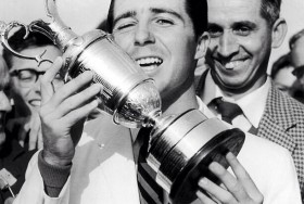 Callaway posted this epic photo bomb from Gary Player's 1959 Open Championship Victory