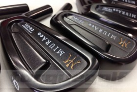 Tourque Golf posted some pics of Miura's new Black Boron finish.