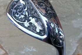 This Edel wedge was 100% hand engraved by Clyde Wynn.