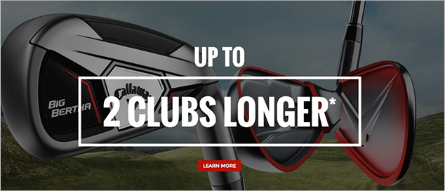 Callaway's New Big Bertha Iron is Up to 2 Clubs Longer*