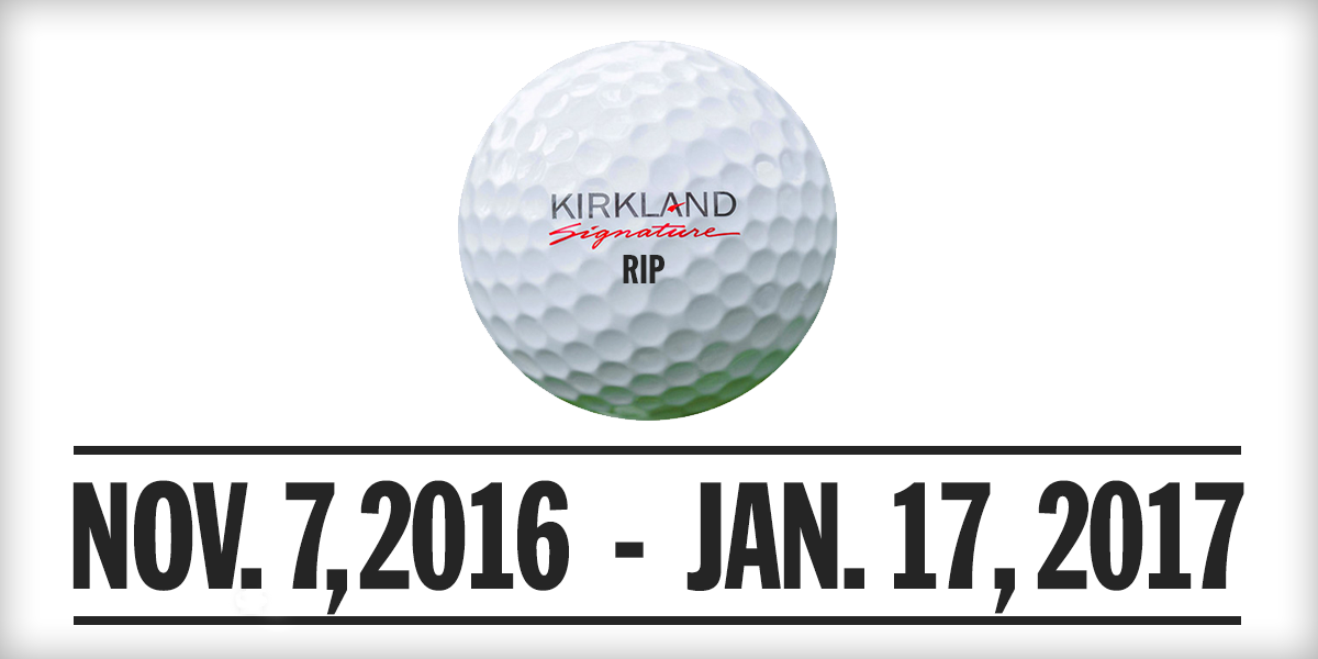 Costco Suspects Production of the Kirkland Signature Golf Ball