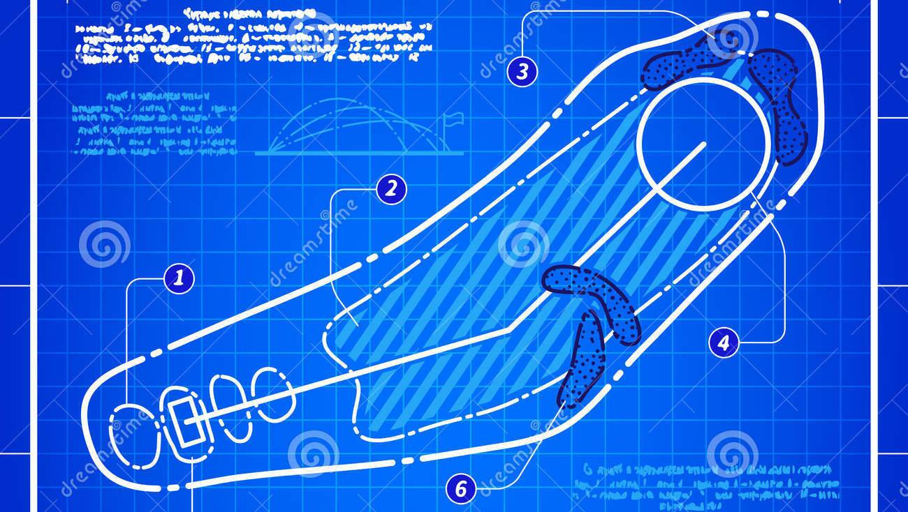 golf-course-layout-blueprint-drawing-abstract-design-stylized-technical-white-symbol-blue-grid-background-54231657