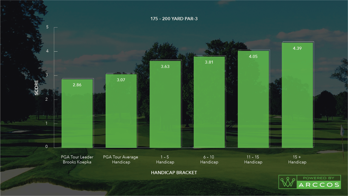 Pros vs. Joes: Par 3 Scoring Average