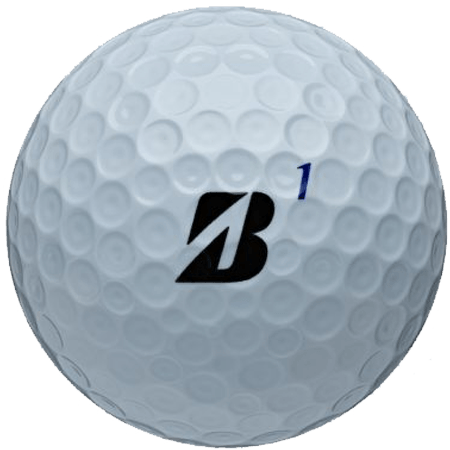 A Bstone XS RXS ball, one of the best golf balls