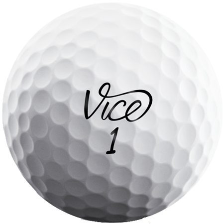 A Vice Soft ball, one of the best golf balls