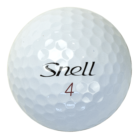A Snell MTB ball, one of the best golf balls