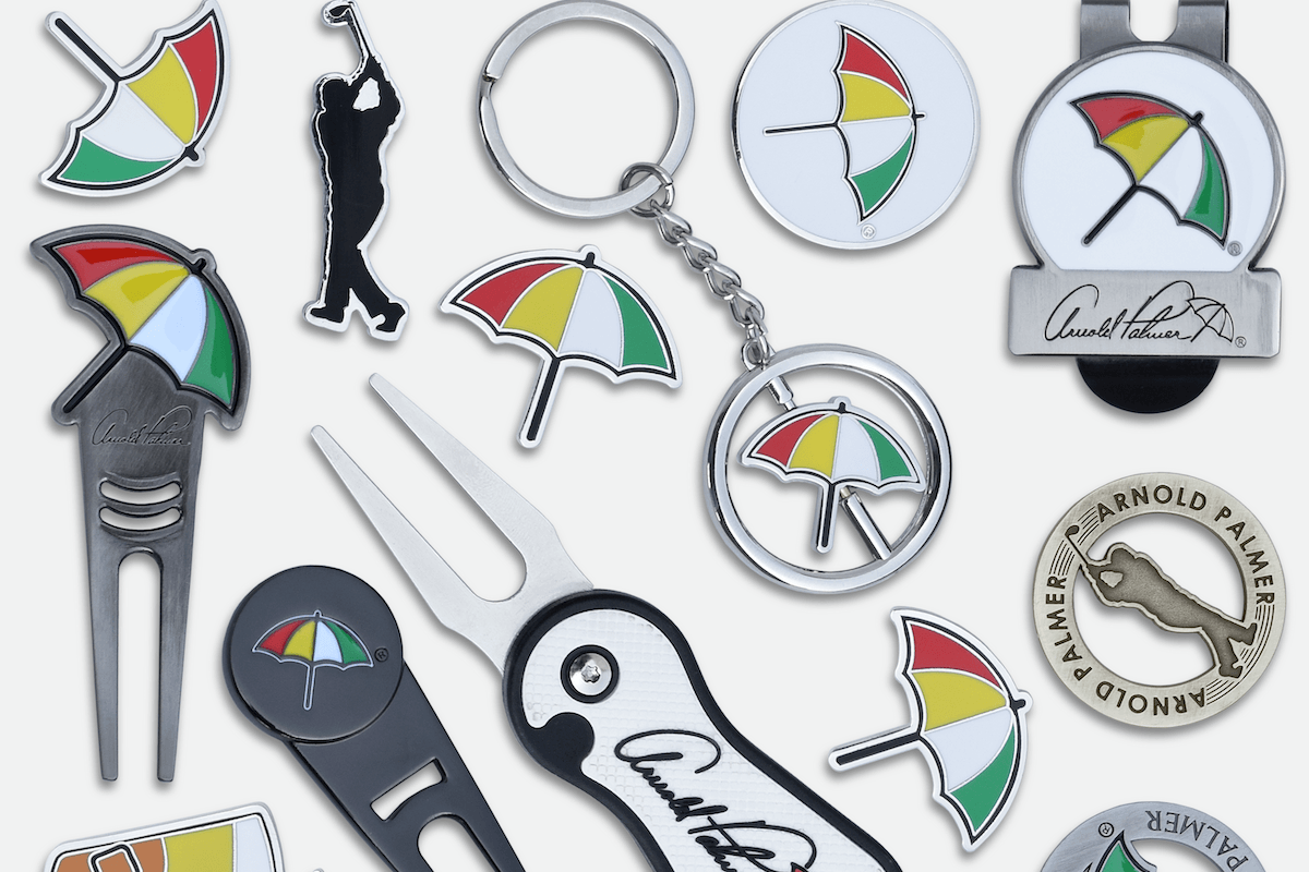 """86833ce9 """"One of the things we've done well is we cover a very wide spectrum,"""" says  Riley. """"Whether it's a bag tag, a divot tool, a ball marker, a golf towel,  ..."""