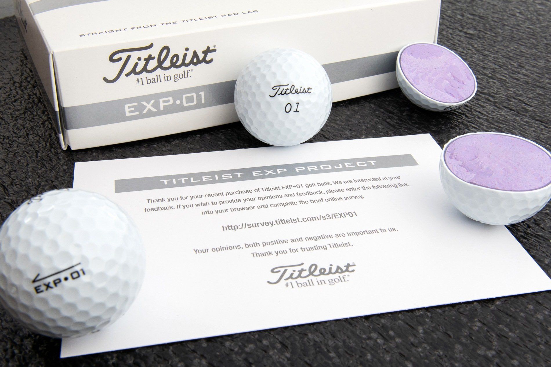 "Titleist EXP•01 Golf Ball: ""Straight from the R&D Lab"""