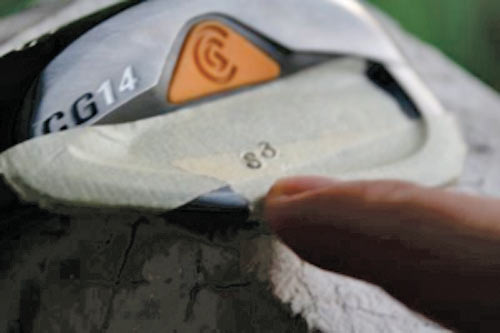how to handstamp a wedge